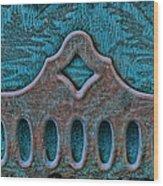 Deco Metal Blue Wood Print