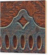 Deco Metal Red Wood Print