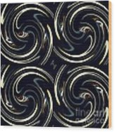 Deco Swirls Wood Print