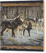 Deco Wolves Wood Print by JQ Licensing