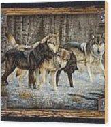 Deco Wolves Wood Print