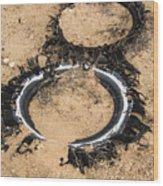 Decomposing Tires Wood Print
