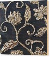 Decor Black And Gold Wood Print by Lori McPhee