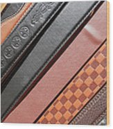 Decorated Belts Wood Print