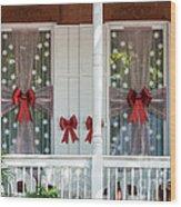 Decorated Christmas Windows Key West  Wood Print