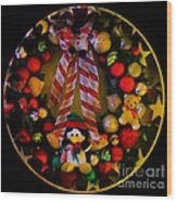 Decorated Wreath Wood Print