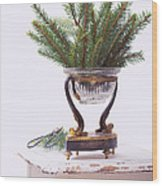 Decorating For Christmas Wood Print