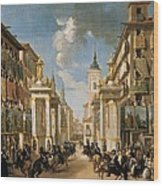Decorations Of Plater�as Street Wood Print