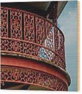 Decorative Balcony Wood Print