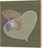 Decorative Heart Wood Print