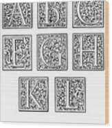 Decorative Initials, C1600 Wood Print