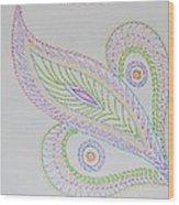 Decorative Leaf Wood Print
