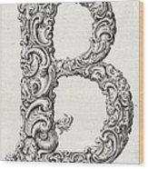 Decorative Letter Type B 1650 Wood Print
