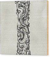Decorative Letter Type I 1650 Wood Print