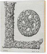 Decorative Letter Type L 1650 Wood Print