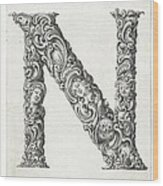 Decorative Letter Type N 1650 Wood Print