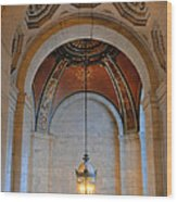 Decorative Light At The New York Public Library Wood Print