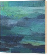 Tranquility- Abstract Painting Wood Print