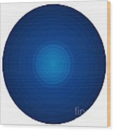 Deep Blue Circles Wood Print