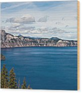 Deep Blue Crater Lake Wood Print