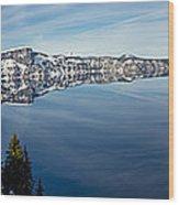 Deep Blue Crater Wood Print