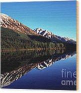 Deep Blue Lake Alaska Wood Print