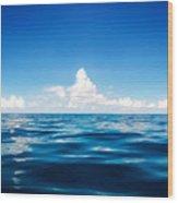 Deep Blue Wood Print