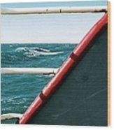 Deep Blue Sea Of The Gulf Of Mexico Off The Coast Of Louisiana Louisiana Wood Print