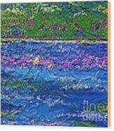 Deep Blue Texture Abstract Wood Print