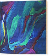 Deep Blue Thoughts Wood Print