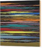 Deep Color Field 2 Wood Print