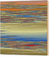 Deep Color Field 4 Wood Print