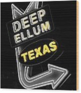 Deep Ellum In Yellow Wood Print