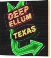 Deep Ellum Wood Print