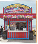 Deep Fried Hostess Twinkies At The Santa Cruz Beach Boardwalk California 5d23689 Wood Print by Wingsdomain Art and Photography