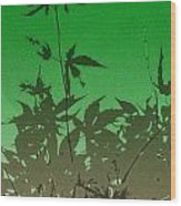 Deep Green Haiku Wood Print
