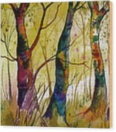 Deep In The Woods Wood Print