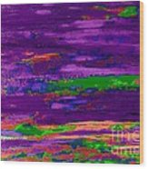 Deep Purple Horizontal Wood Print