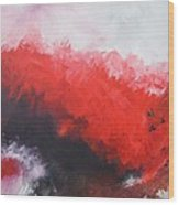 Deep Red 3 Wood Print