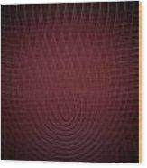 Deep Red Fractal Background Wood Print