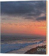 Deep Red Sunset Wood Print