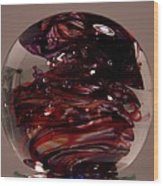 Deep Reds Prr1 Wood Print