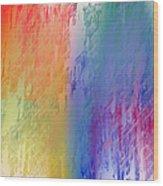 Deep Rich Sherbet Abstract Wood Print