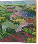 Deep Ridge Red Hill Wood Print