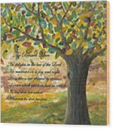 Deep Roots-with Scripture Wood Print