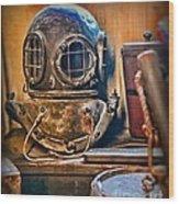 Deep Sea Diver Wood Print