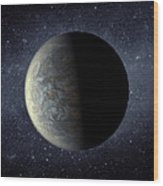 Deep Space Planet Kepler-20f Wood Print by Movie Poster Prints