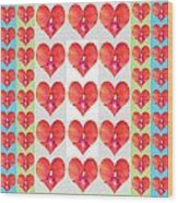 Deeply In Love Cherryhill Flower Petal Based Sweet Heart Pattern Colormania Graphics Wood Print