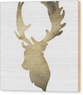 Deer Antlers Original Watercolor Art Print Wood Print