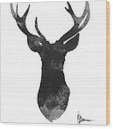 Deer Antlers Watercolor Painting Art Print Wood Print